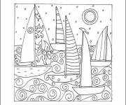 Free coloring and drawings Anti stress coloring page Happy New Year Coloring page