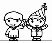 Free coloring and drawings Chin chin for the new year Coloring page