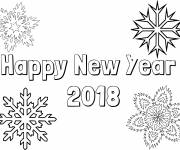 Free coloring and drawings Happy new year 2019 Coloring page