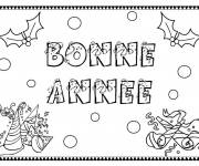 Coloring pages Happy new year coloring page