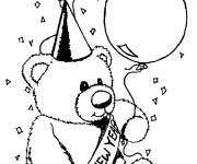 Free coloring and drawings Happy new year to color Coloring page