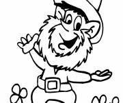 Coloring pages Funny St. Patrick