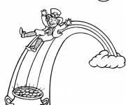Coloring pages Magical St. Patrick