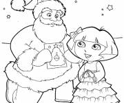 Free coloring and drawings Christmas dora Coloring page