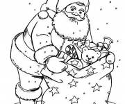 Free coloring and drawings Santa Claus and his toys Coloring page