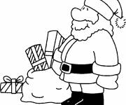 Free coloring and drawings Santa Claus color Coloring page
