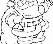 Free coloring and drawings Santa Claus Online Coloring page