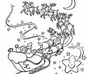 Free coloring and drawings Santa's sleigh Coloring page