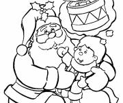 Free coloring and drawings The child expresses his wish for Christmas Coloring page