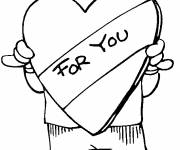 Coloring pages A Heart of love for You