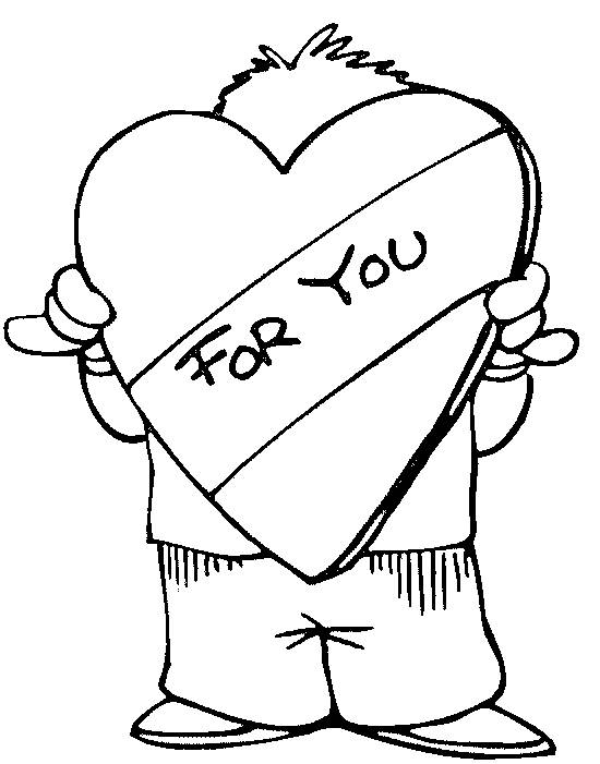 Free coloring and drawings A Heart of love for You Coloring page