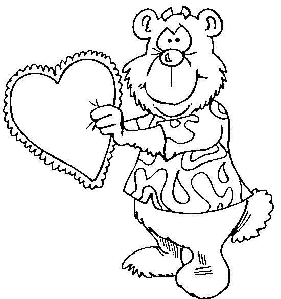 Free coloring and drawings Bear lover Coloring page