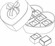 Coloring pages Chocolate for Valentine's Day
