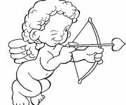 Coloring pages Color love angel