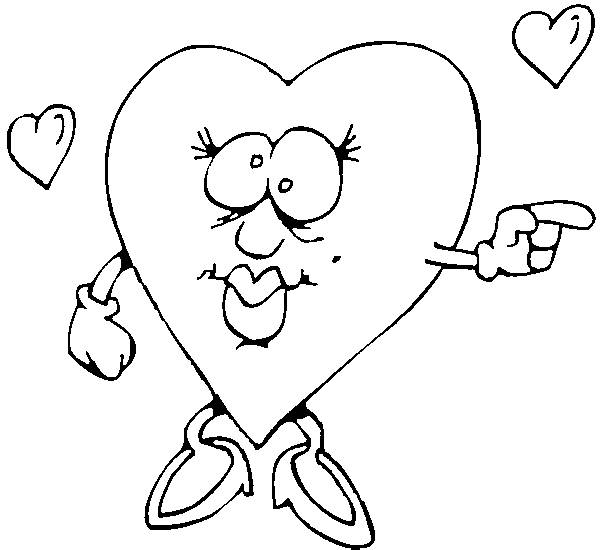 Free coloring and drawings Confused Love Heart Coloring page