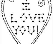 Coloring pages Heart and Expression of Love