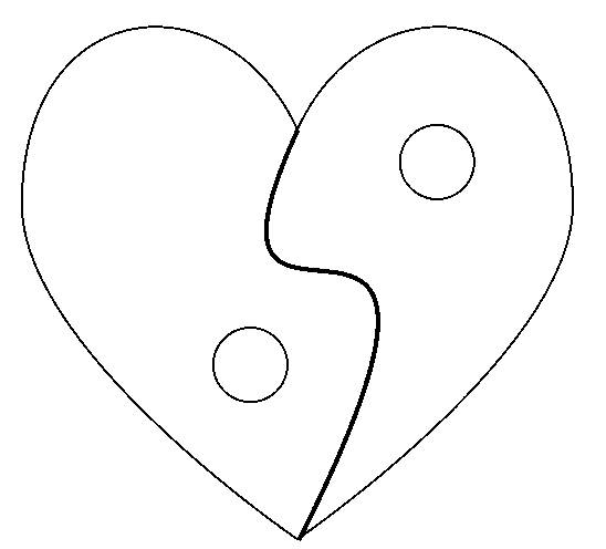 Free coloring and drawings Heart and Peace for Valentine's Day Coloring page