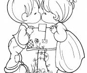 Coloring pages Innocence and Valentine's Day color