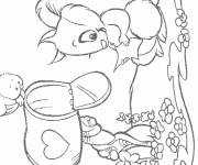 Coloring pages Magic love letter