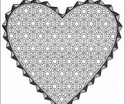 Coloring pages Mandala St-Valentine