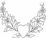 Coloring pages Super Valentine Heart