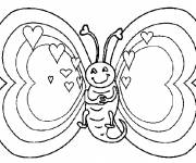 Coloring pages The Butterfly seems in love