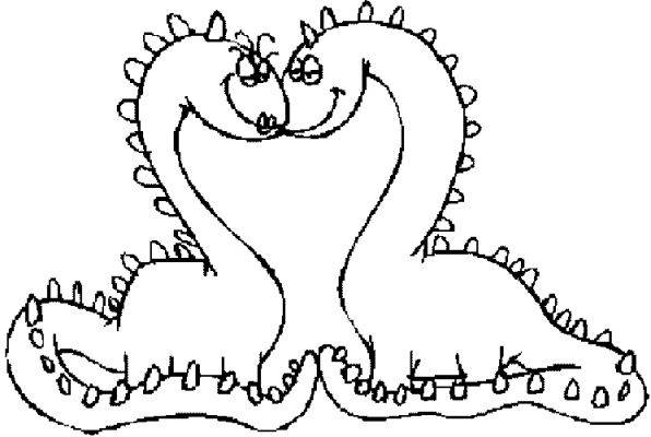 Free coloring and drawings The Loving Monsters Coloring page