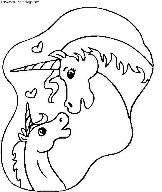 Free coloring and drawings Unicorn Valentine's Day Coloring page