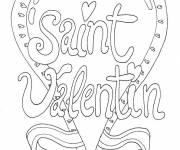 Coloring pages Valentine's card to download
