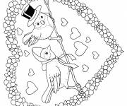 Coloring pages Valentine's Day Heart Online