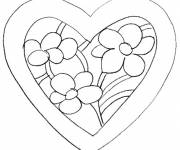 Coloring pages Valentine flower
