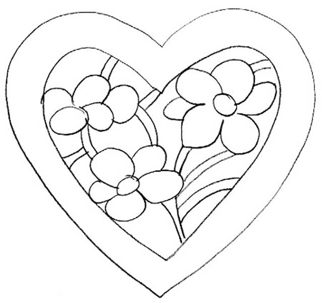 Free coloring and drawings Valentine flower Coloring page