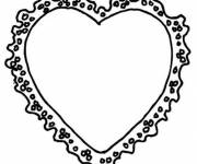 Coloring pages Valentine Heart Frame