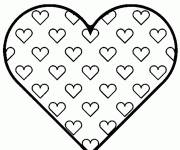 Coloring pages Valentine heart in vector