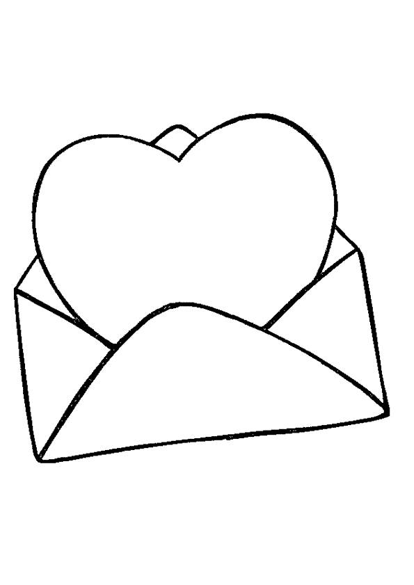 Free coloring and drawings Valentine love letter Coloring page