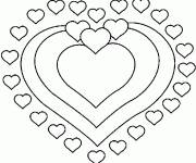 Coloring pages Valentine Mandala Hearts
