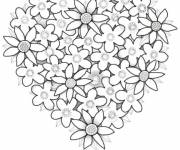 Coloring pages Valentine Roses