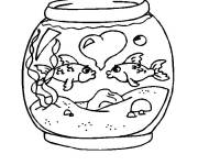 Coloring pages Valentine's Day Fish
