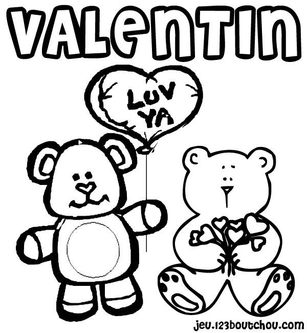 Free coloring and drawings Valentine's Day for children Coloring page
