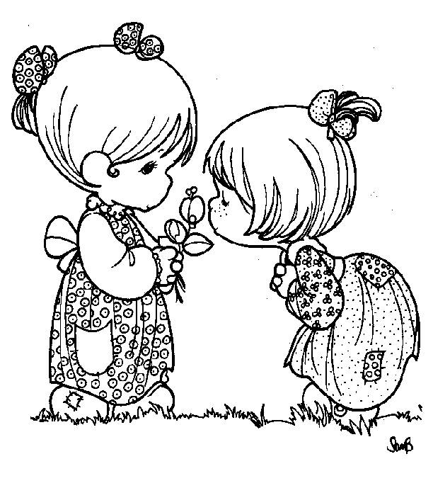 Free coloring and drawings Valentine's Day for Girls Coloring page