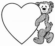 Coloring pages Valentine's Day for The Little Ones