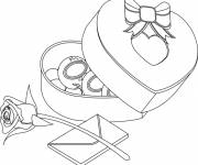 Coloring pages Valentine's Day Gifts and Letters