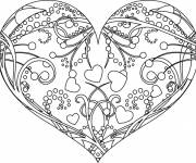 Coloring pages Valentine's Day Gorgeous Heart