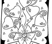 Free coloring and drawings Valentine's day greeting card Coloring page