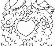 Free coloring and drawings Valentine's Day Heart of love Coloring page