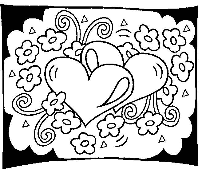 Free coloring and drawings Valentine's Day Hearts Coloring page