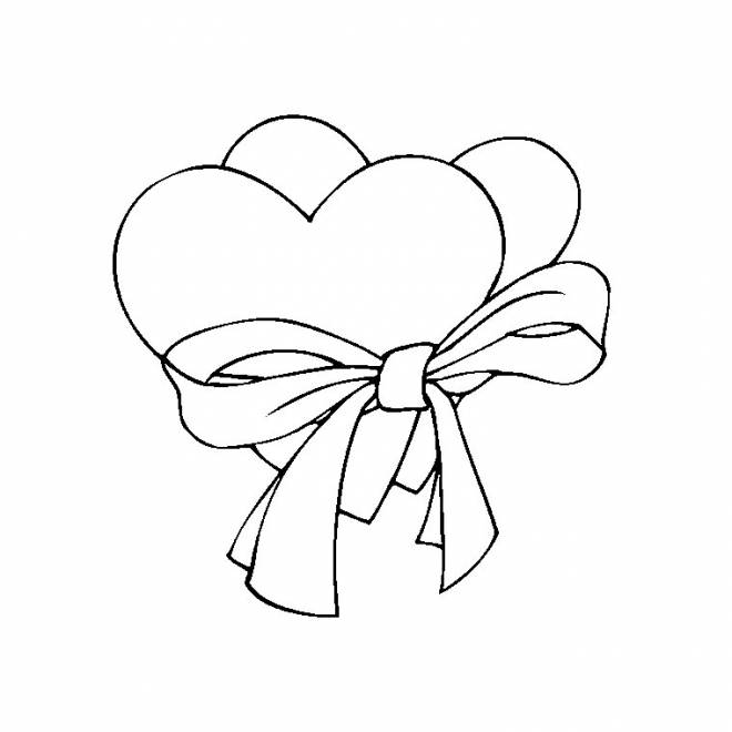 Free coloring and drawings Valentine's Day in color Coloring page