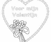 Coloring pages Valentine's  Day on computer