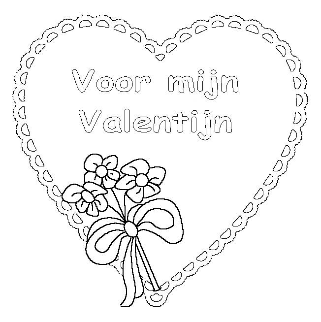 Free coloring and drawings Valentine's  Day on computer Coloring page