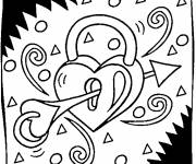 Coloring pages Valentine's Day online